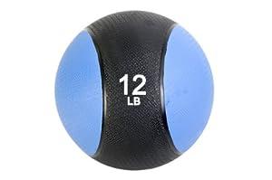 FA Sports Médecine ball Noir/Bleu 0,9 kg 19 cm