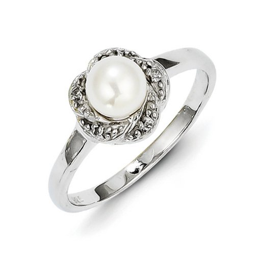 Pearl Rings With Diamonds