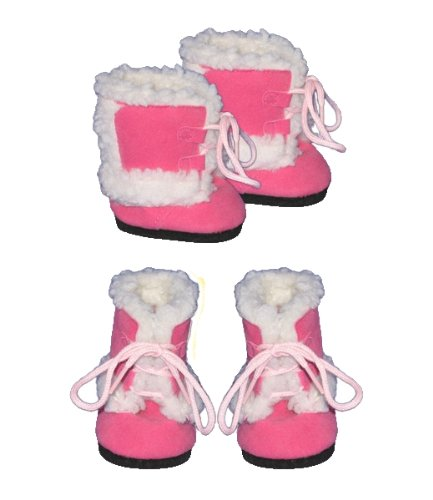 "Pink Furry Boots clothes fits most 12"" Snuggl'ems, 8"" - 10"" Stuffed Animal kits & most Webkinz & Shining Star animals"