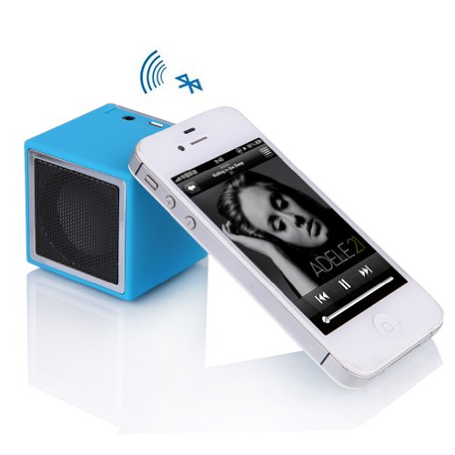 Bluetooth Wireless Mini Portable Speakers Rechargble For Samsung Galaxy S5 S4 S3 Tab 3 2 Note 2 3 Nexus 7 10 Iphone 5S 5C 4S Ipad 4 3 Mini Nokia 925 1020 Htc One Tablets Pc Notebook Blue