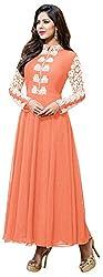 Ecoco Fashion Women's Unstitched Salwar Suit (Orange)