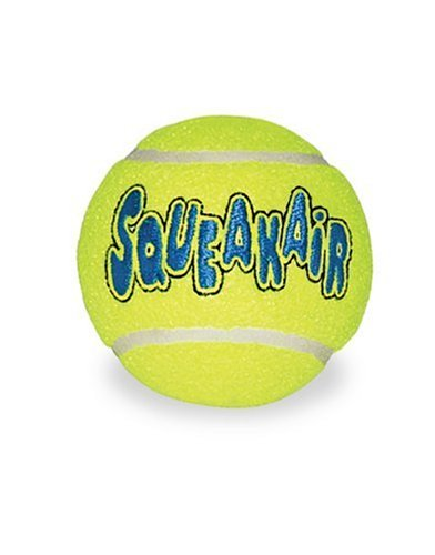 KONG Air Dog Squeakair Ball Bulk Dog Toy, Large, Yellow