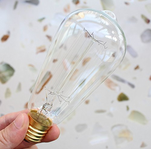 Edison Bulbs, Rolay 60w Dimmable Industrial Pendant Filament Light Bulbs with Vintage Antique Style Design for Pendant Lighting, Wall Sconces, Ceiling Fan and Chandeliers - 370 Lumens - 6 Pack 1