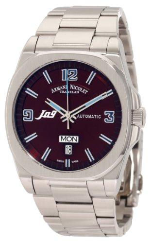 Armand Nicolet J09 9650A-MR-M9650 39mm Automatic Silver Steel Bracelet & Case Anti-Reflective Sapphire Men's Watch