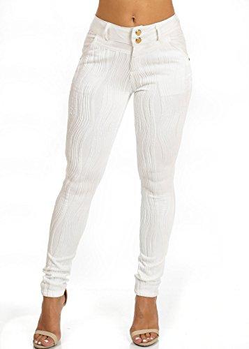 High Waisted Skinny Dress White Pants 40928