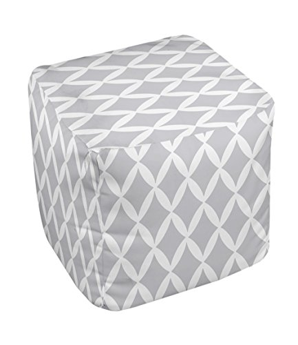 E by design FG-N1A-Rain_Cloud-13 Geometric Pouf - 1