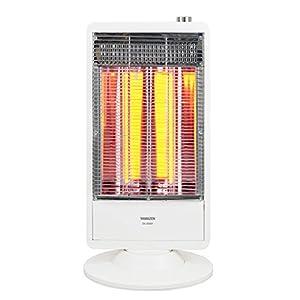 山善(YAMAZEN) 遠赤外線カーボンヒーター(900W/450W 2段階切替) 自動首振り機能付 ホワイト DC-S095(W)