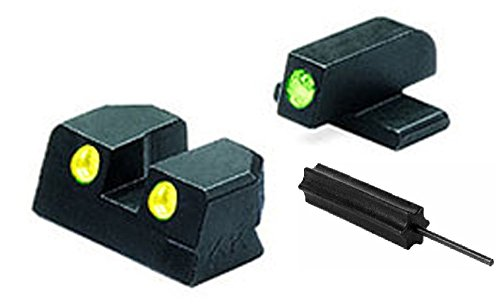 Meprolight The Mako Group Ml11411Y Springfield Xd Tru-Dot® Night Sight Set Green/Yellow - 45 Acp + Ultimate Arms Gear Pro Disassembly 3/32 Pin Punch Armorers Gunsmith Tool