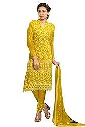Minimall Yellow New Fancy Pure Chiffon Salwar Suits