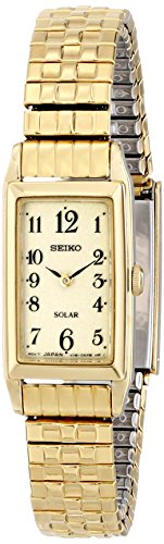 Seiko Solar Two-Hand Stainless Steel - Gold-Tone Women's watch #SUP244