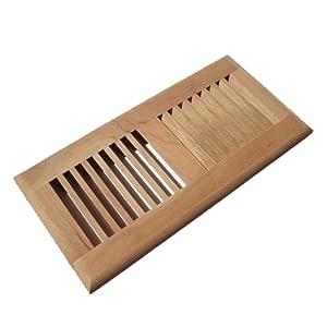 Welland hardwood self rimming floor register vent for Wood floor registers 6 x 14