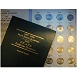 """1999 - 2008 COMPLETE 50-COIN STATE QUARTERS SERIES SET, """"P"""" MINT MARK, WITH A LITTLETON STATE QUARTER FOLDER"""