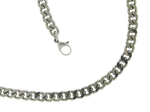 Bob C Herren-Halskette ohne Anhänger Panzergliederung Edelstahl 327152