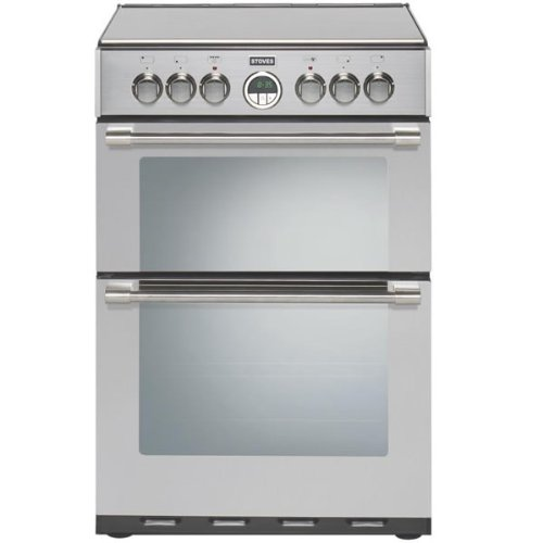 Stoves STERLING 600EISTA 600mm Mini Range Electric Cooker Induction Hob S\/Steel