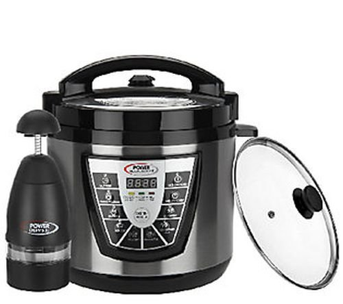 Power Pressure Cooker Xl Plus 6 Qt. Digital w/ Glass Lid & Power Chopper (Lid For Power Pressure Cooker Xl compare prices)
