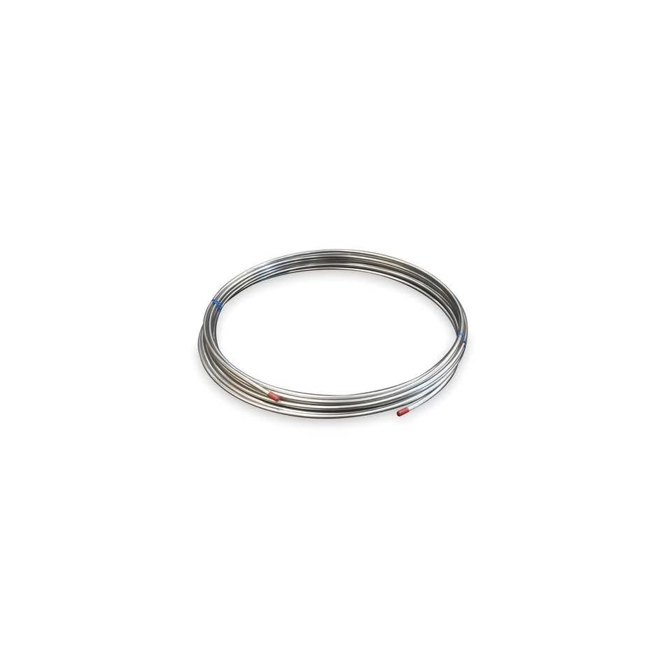 304 and 316 Stainless Steel Tubing, Welded Coil Tubing,Welded,1/8 In,5