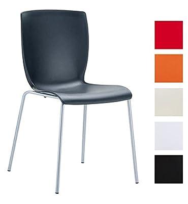 CLP Aluminium Gartenstuhl, Küchenstuhl, Stapelstuhl MIO mit Kunststoff Sitzfläche, stapelbar, FARBWAHL von CLP - Gartenmöbel von Du und Dein Garten
