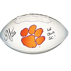 Brian Dawkins Autographed Signed Clemson Tigers Logo Football WE OWN SC!