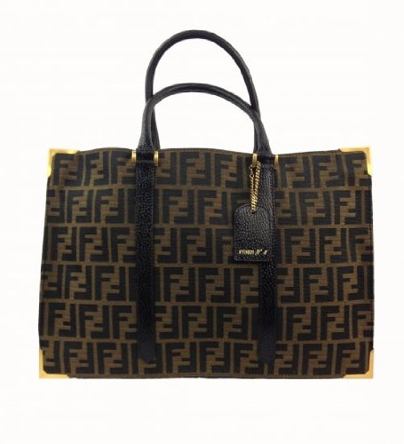 fendi-brown-models-printed-letters-shoulder-bag