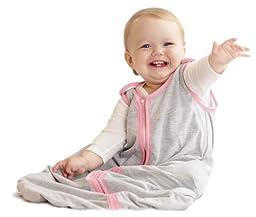 Baby Deedee Sleep Nest Lite Baby Sleeping Bag, Heather Gray Bubble Gum, Small (0-6 Months)