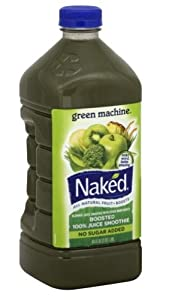 Naked 100% Juice Smoothie Green Machine No Sugar Added 64 Oz