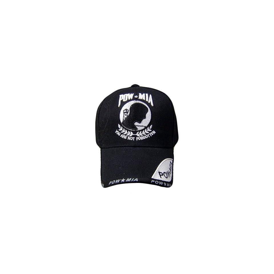 POW MIA YOU ARE NOT FORGOTTEN BLACK COTTON CAP HAT ADJ