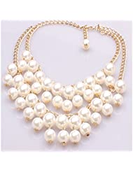 Glitz Fashion Faux Pearl Choker Necklace For Women - Anniversary Gifts