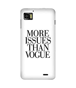 More Issues Than Vogue Printed Back Cover Case For Lenovo K860