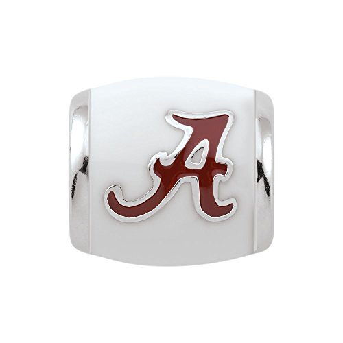 Persona Sterling Silver University of Alabama Crimson White Bead Charm