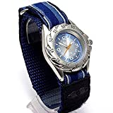 Boys/Childs/Kids Blue Terrain Boardrider Sports Surf Watch-Velcro Strap+Rotating Bezel-Water Resitance to 50m (1308b)