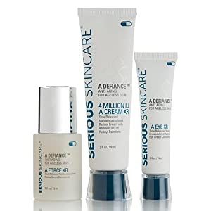 Serious Skin Care Age Defy Trio Includes 4 Million Iu a Cream Xr, a Force Serum & a Eye Xr Concentrate 3 Full Size Products!