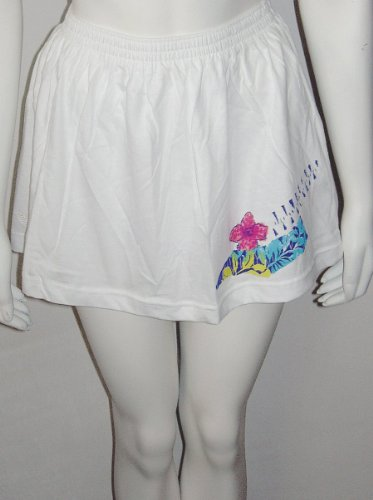 ADIDAS TENNIS SKIRT white with flower motif and logo new with labels