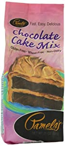 Pamela's Products Luscious Chocolate Cake Mix, 21-Ounce Packages (Pack of 6)