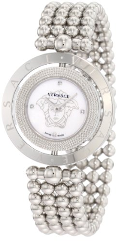Versace Women's 79Q99SD497 S099 Eon Two Rings Mother-Of-Pearl Diamond Steel Bracelet Watch