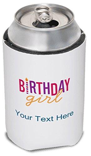 Vistaprint Pink Birthday Girl Koozies front-648252