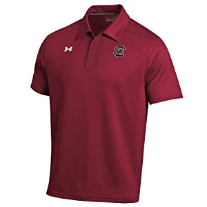 NCAA South Carolina Gamecocks Dominance Coaches Polo, Cardinal by Under Armour
