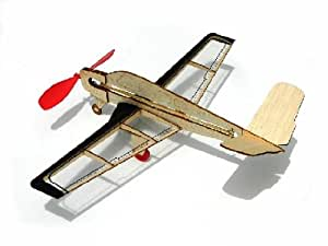 Guillow Guillow's V Tail Mini Rubber Powered Model Plane [Toy]