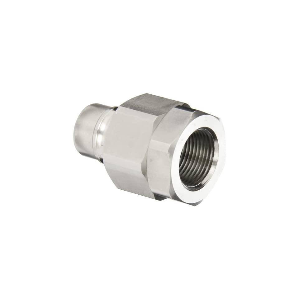 Snap Tite BVHN12 12F Brass H Shape Quick Disconnect Hose Coupling, Nipple, 3/4 NPTF Female x 3/4 Coupling Size