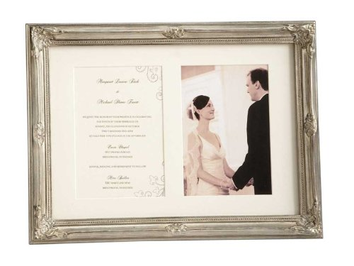 # 21525 Silver Wedding 5x 7 and Invitation Frame