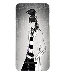 PrintDhaba Stylish Boy D-4925 Back Case Cover for COOLPAD NOTE 3 LITE (Multi-Coloured)