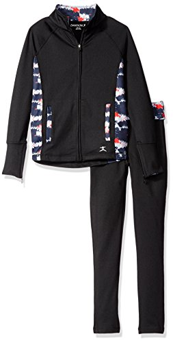Danskin Girls' Little Girls' USA Set Jacket and Legging, Rich Black, Small (Danskin Girls Pants compare prices)