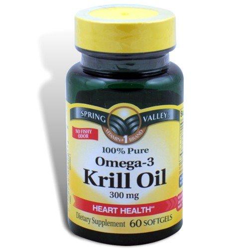 Spring valley krill oil omega 3 300 mg 60 softgels for Best omega 3 fish oil supplement