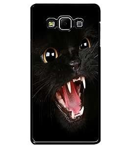 ColourCraft Black Cat Design Back Case Cover for SAMSUNG GALAXY A7