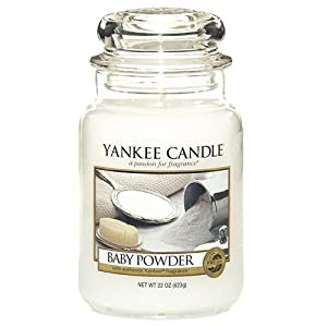 Yankee Candle Large Jar Candle, Baby Powder