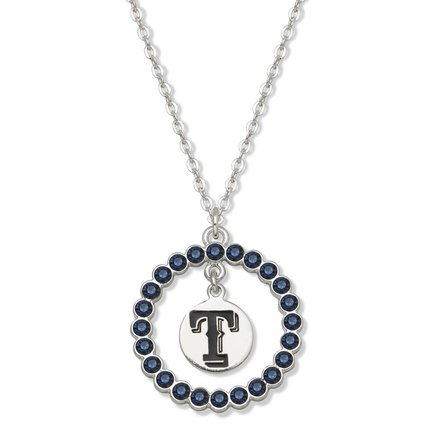 Texas Rangers Spirit Crystal Logo Wreath Necklace at Amazon.com