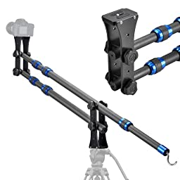 Fancierstudio Carbon Fiber Mini Jib Crane Portable Pro DSLR Video Camera Crane Jib Arm Standard Version+Bag By Fancierstudio Fan JIB-01