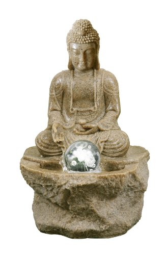 comparamus zimmerbrunnen kosala buddha mit led. Black Bedroom Furniture Sets. Home Design Ideas