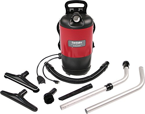 Electrolux Sanitaire SC412B Commercial Backpack Vacuum, Red (Electrolux Perfect Glide compare prices)
