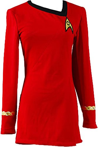 CosplaySky Star Trek Dress Costume The Female Red Duty Uniform X-Large