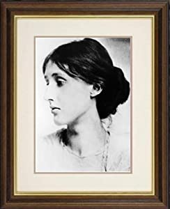 Print of 'Virginia Woolf (1882-1941), English novelist, essayist and critic.' in Black Frame